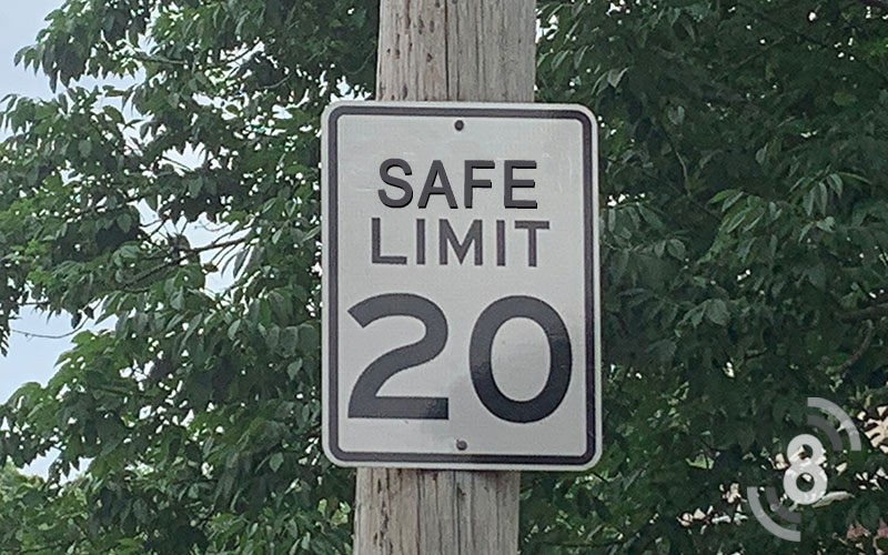 Safe Limit Sign word example